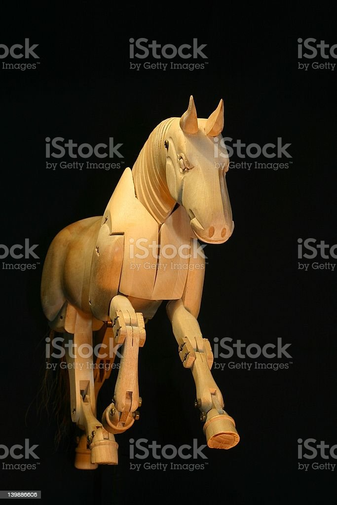 Horse mannequin gallop royalty-free stock photo