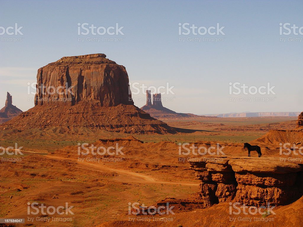 Horse Monument Valley Utah Butte Red Rock royalty-free stock photo