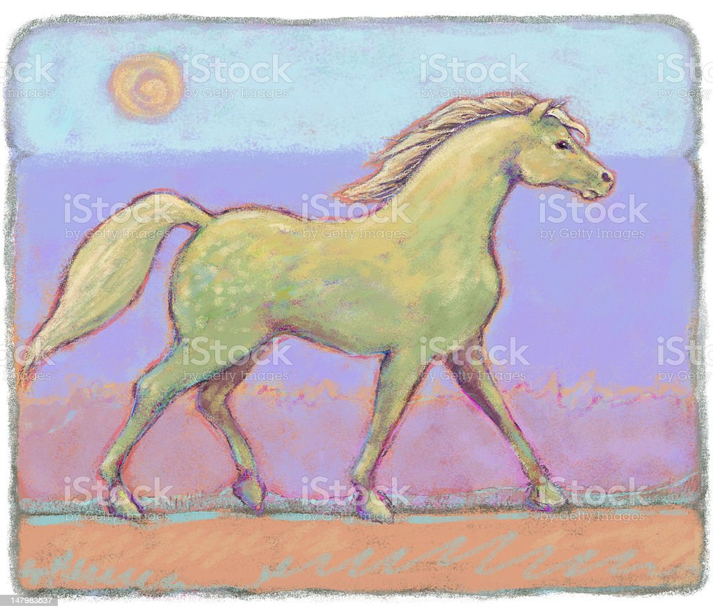 Horse of a Different Color royalty-free stock photo