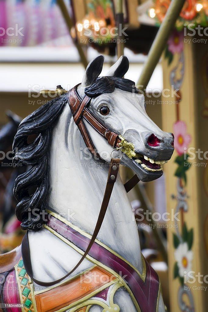 horse on merry-go-round royalty-free stock photo