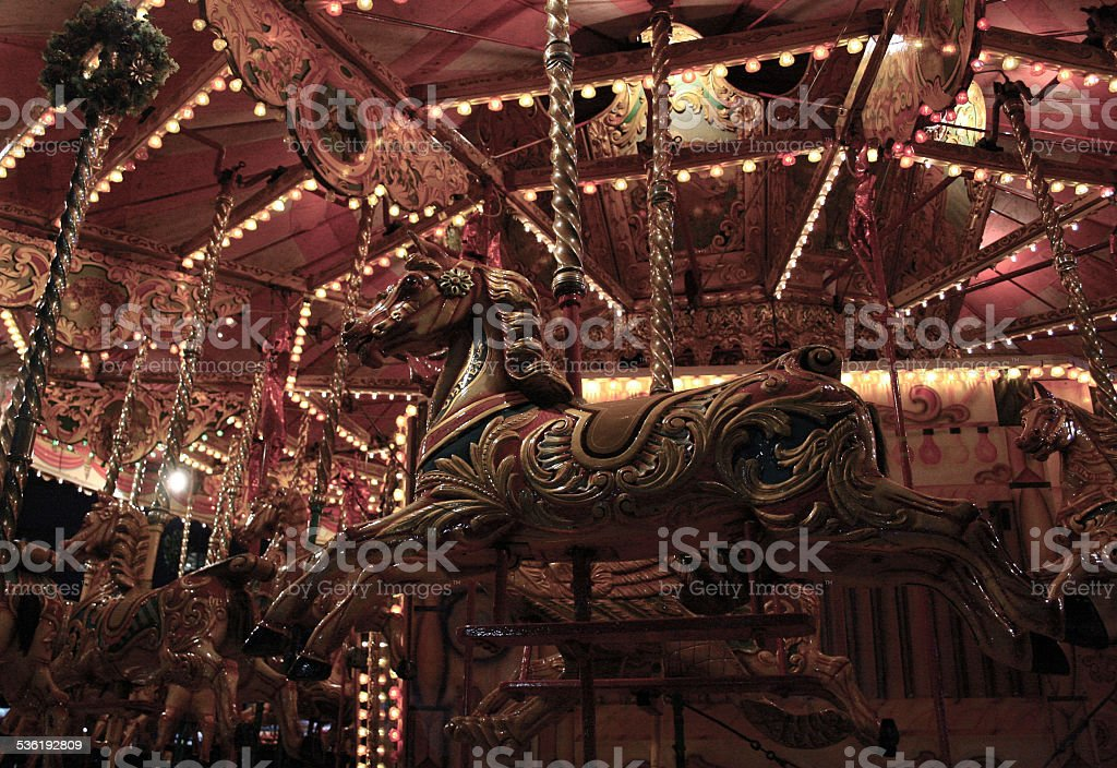 Horse on the Carousel. stock photo