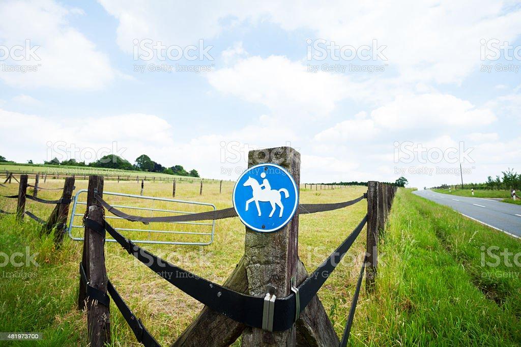 Horse paddocks stock photo