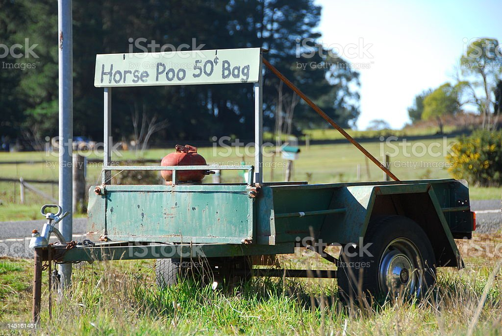 Horse Poo For Sale royalty-free stock photo