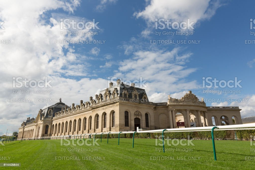 Horse Racing in France - Chantilly Racecourse stock photo