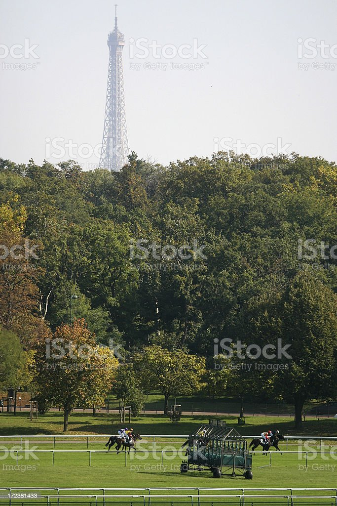 Horse Racing in Paris stock photo