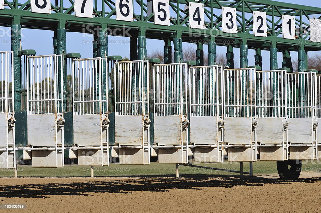 Horse Racing Starting Gate stock photo