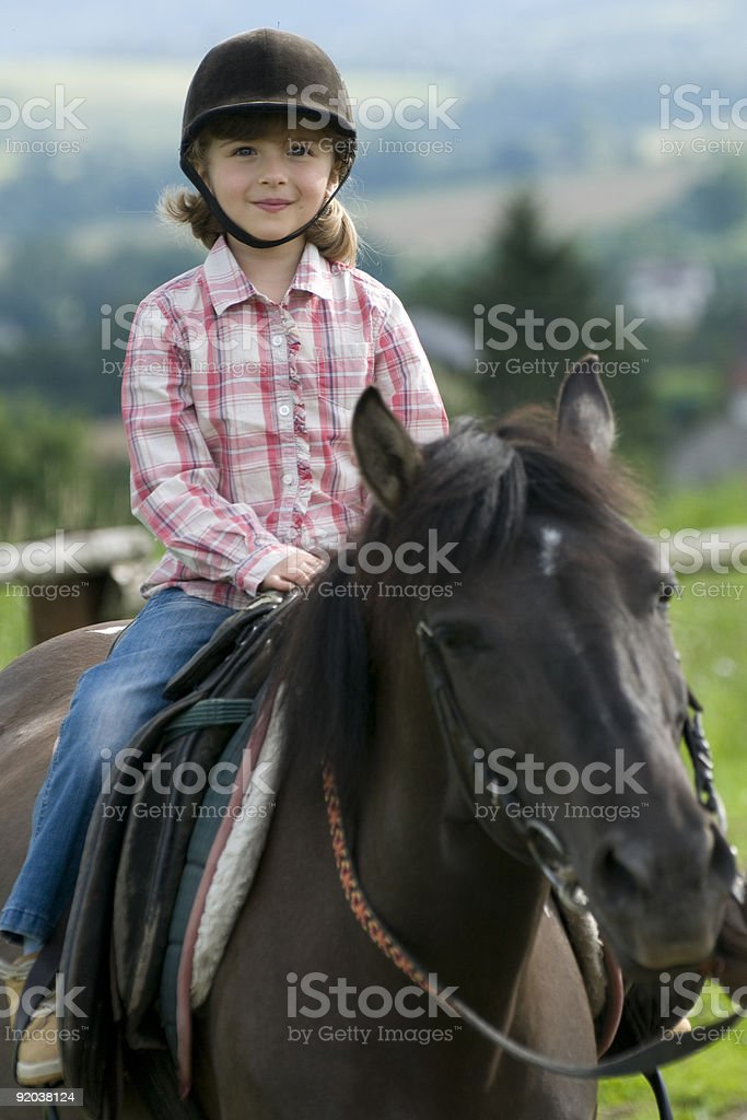 Horse riding stock photo