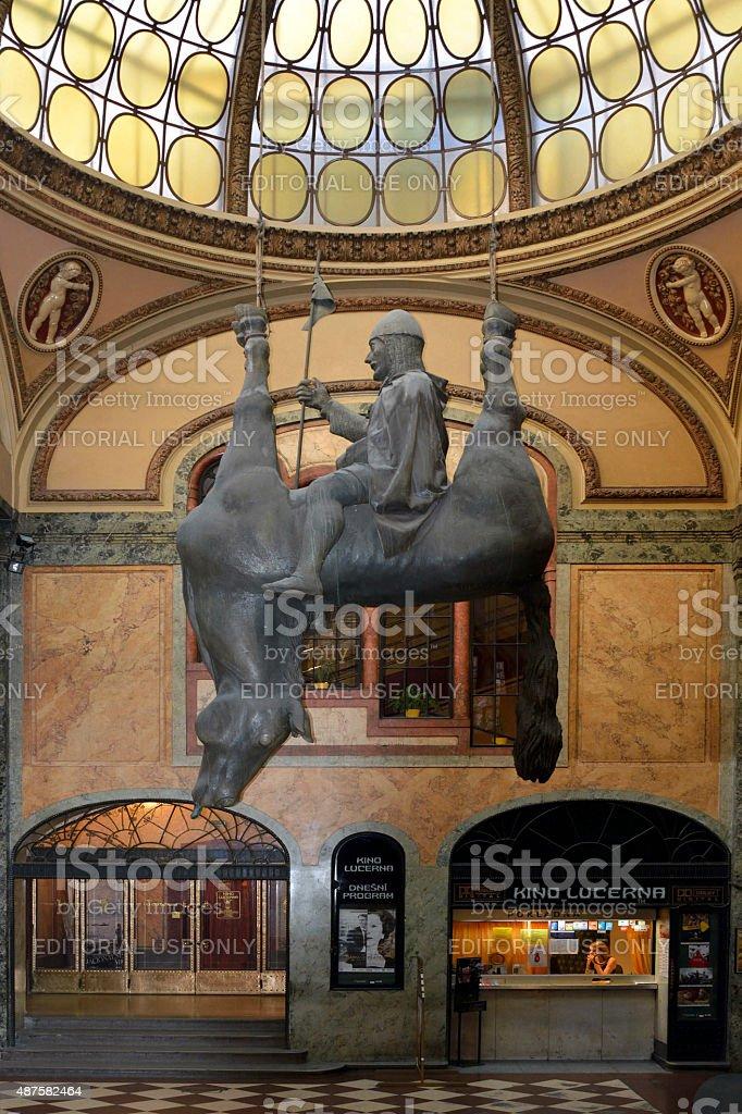 Horse sculptur of Prague - Czech Republic stock photo