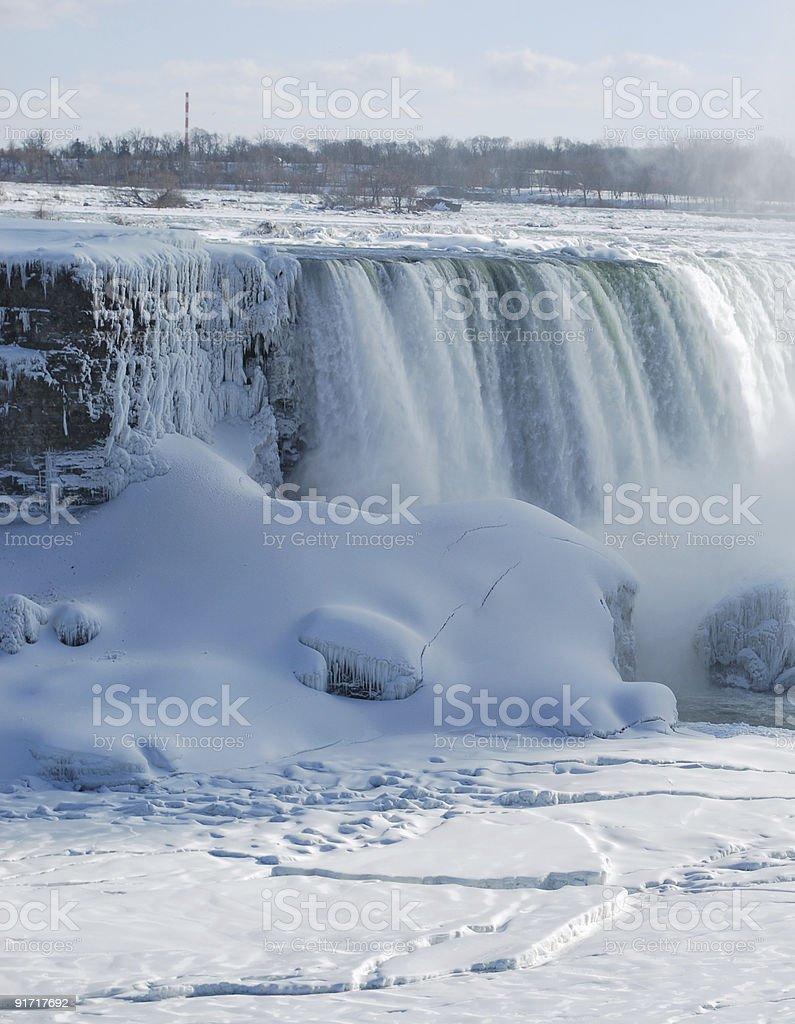 Horse Shoe Falls, Niagara  in winter royalty-free stock photo