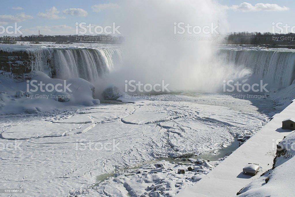 Horse Shoe Niagara Falls in winter royalty-free stock photo