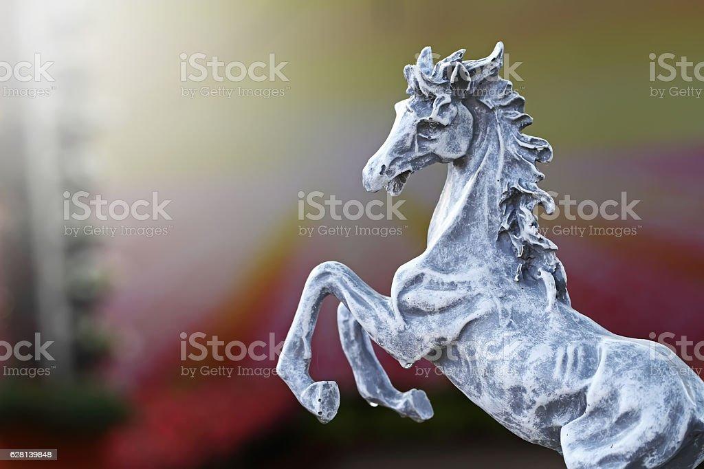 horse statue : 7 december 2016 stock photo