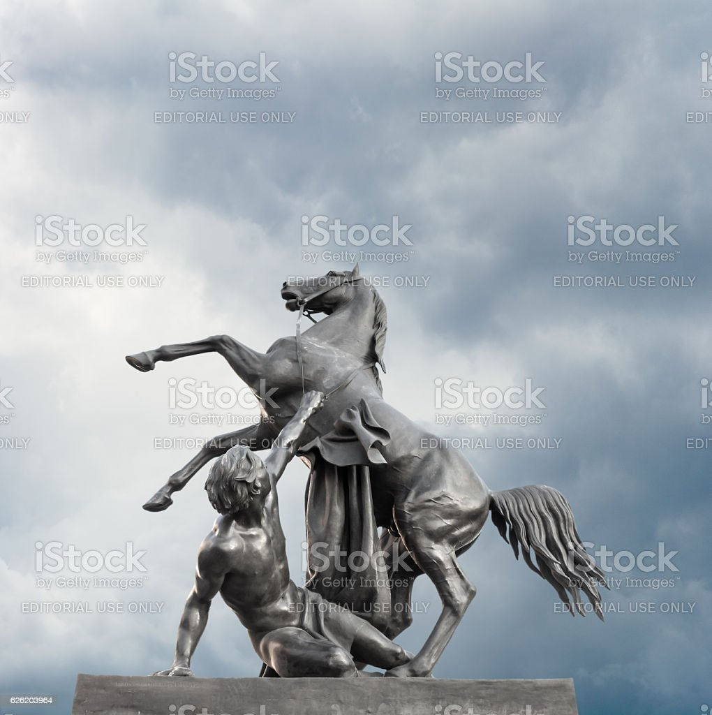 'Horse Tamer'. Sculpture of the 19th century stock photo