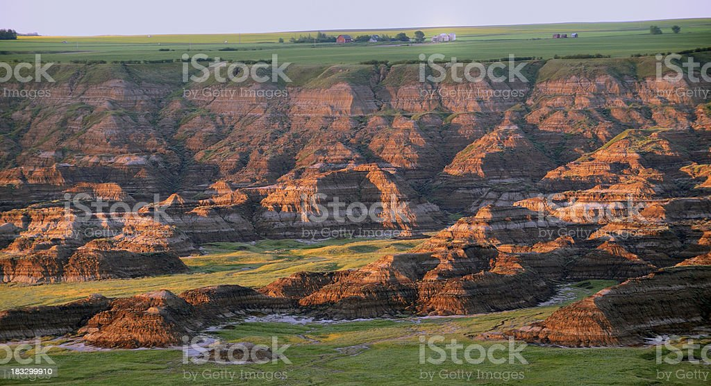 Horse Thief Canyon at sunset stock photo