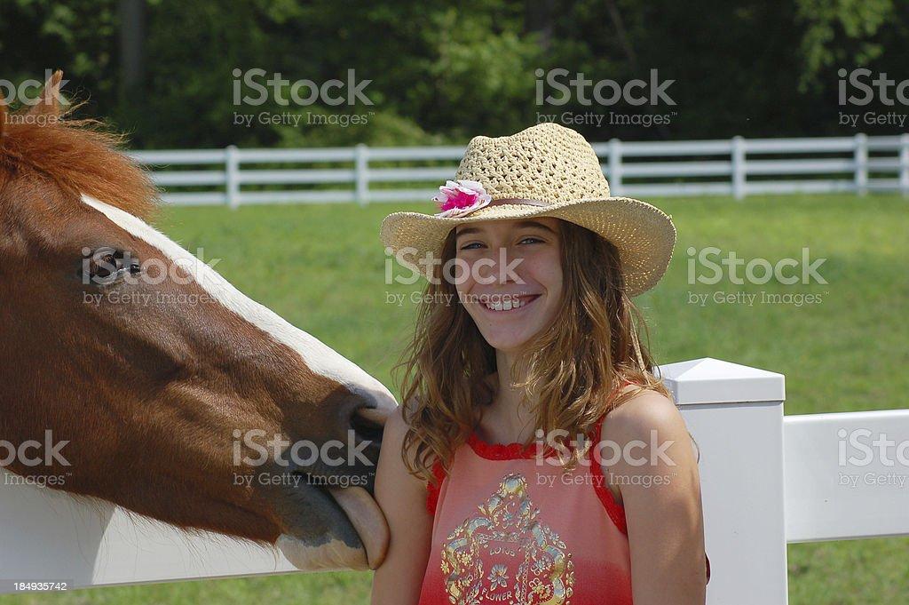 Horse tongue royalty-free stock photo