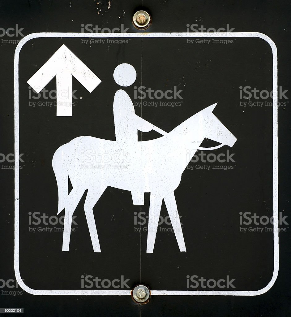 Horse Trail Sign stock photo