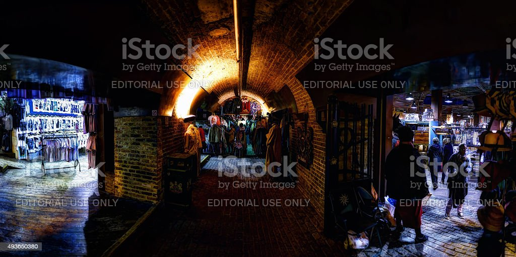 Horse Tunnel Market in Camden (wide angle) stock photo