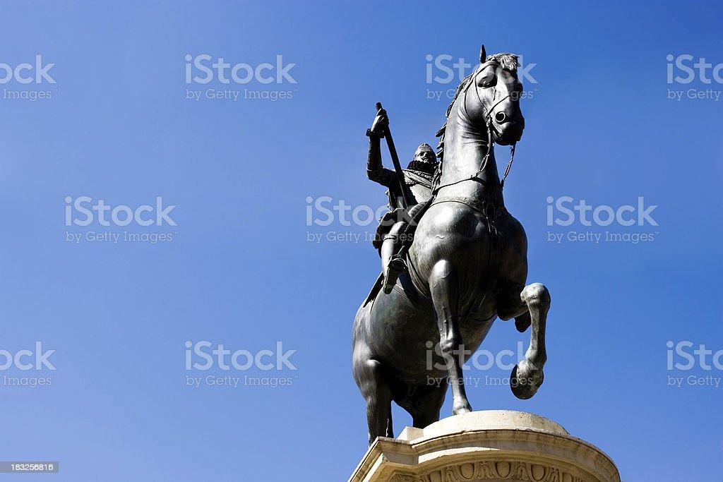 Horse Warrior stock photo