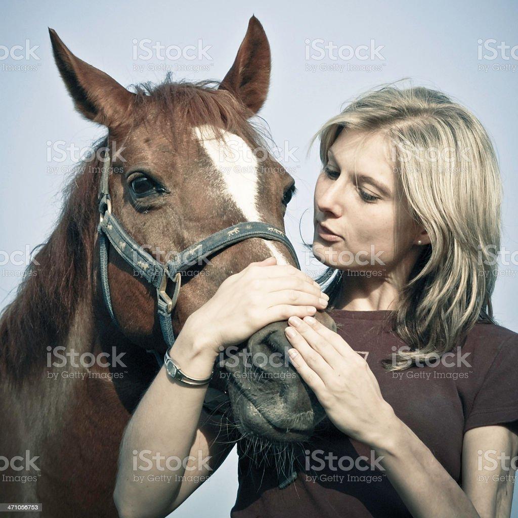 Horse Whisperer royalty-free stock photo