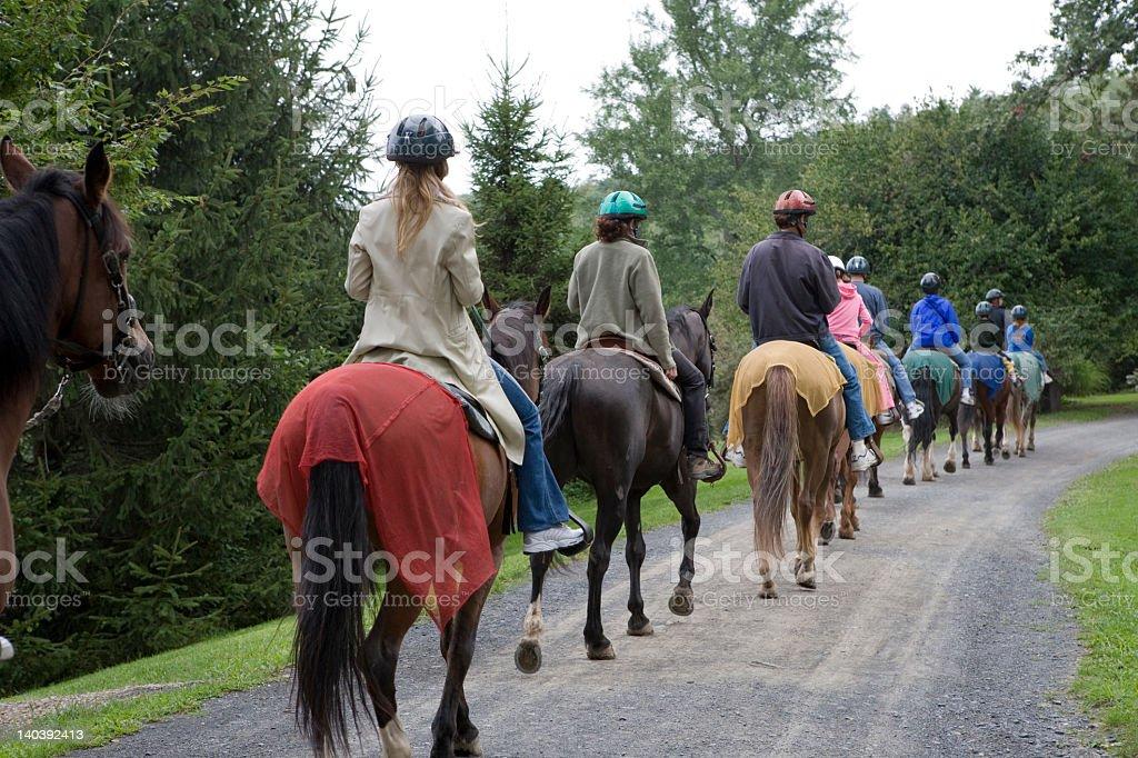 Horseback Riding Group stock photo