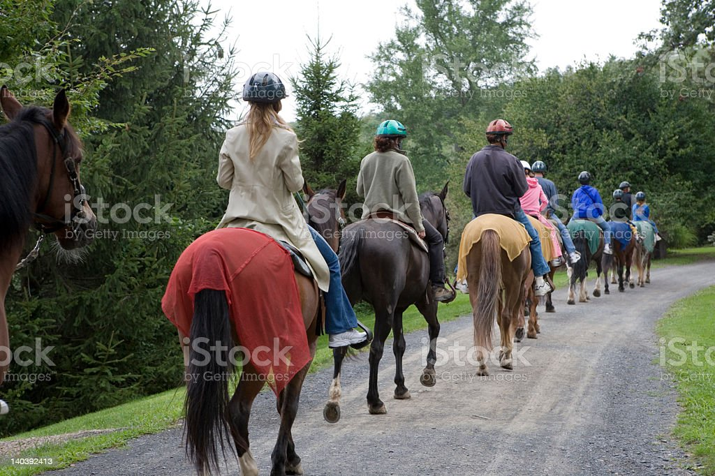 Horseback Riding Group stock photo