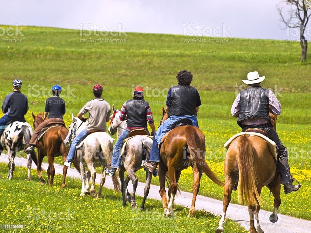 horseback riding stock photo