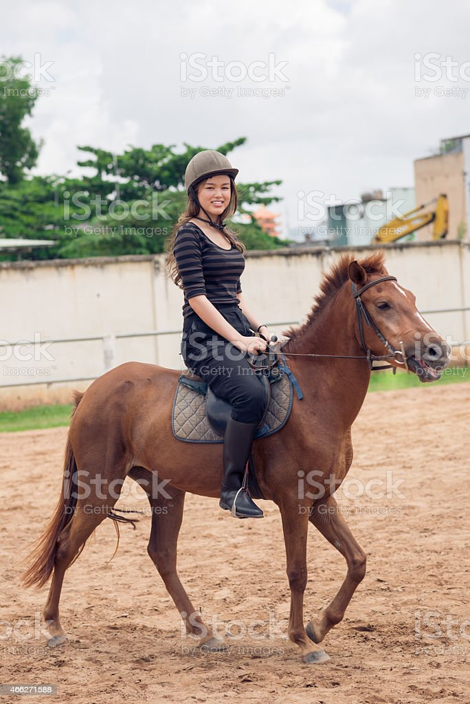 Horseback riding royalty-free stock photo
