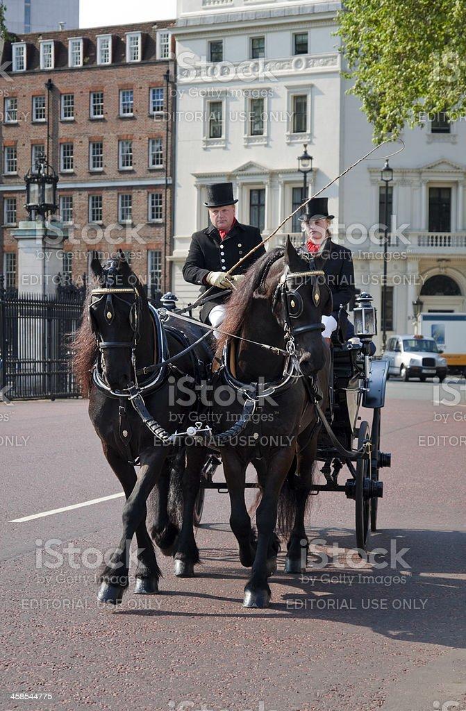 Horsedrawn carriage near Buckingham Palace royalty-free stock photo