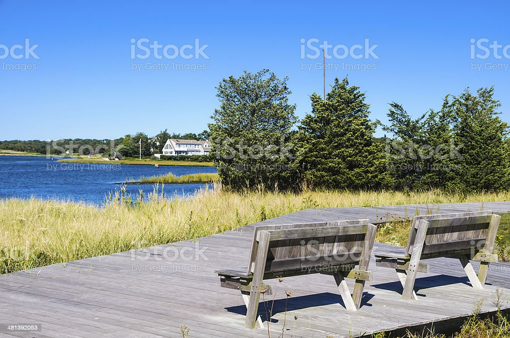 Horsefoot Cove Overlook stock photo