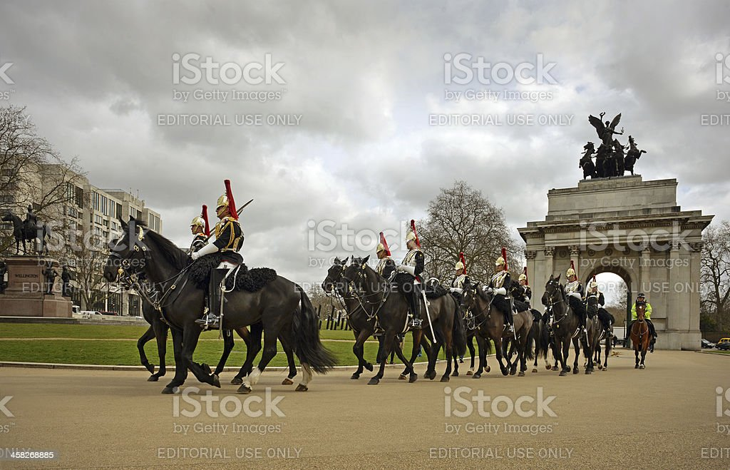 Horseguards in London stock photo