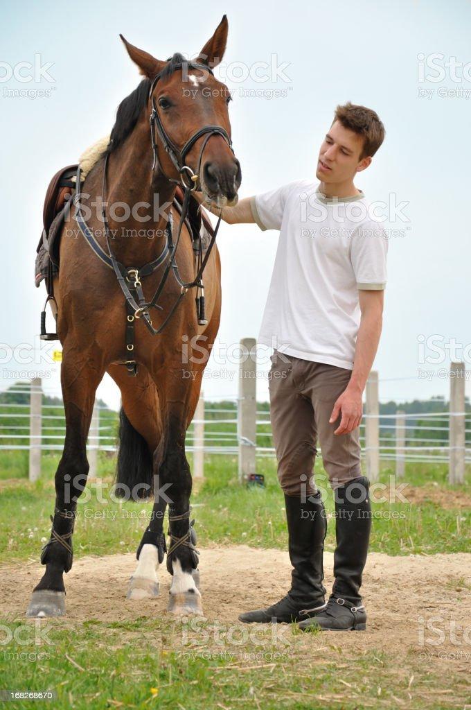 Horseman stock photo