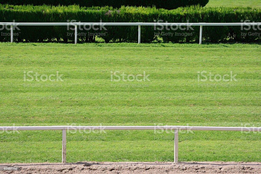 Horseracing track stock photo