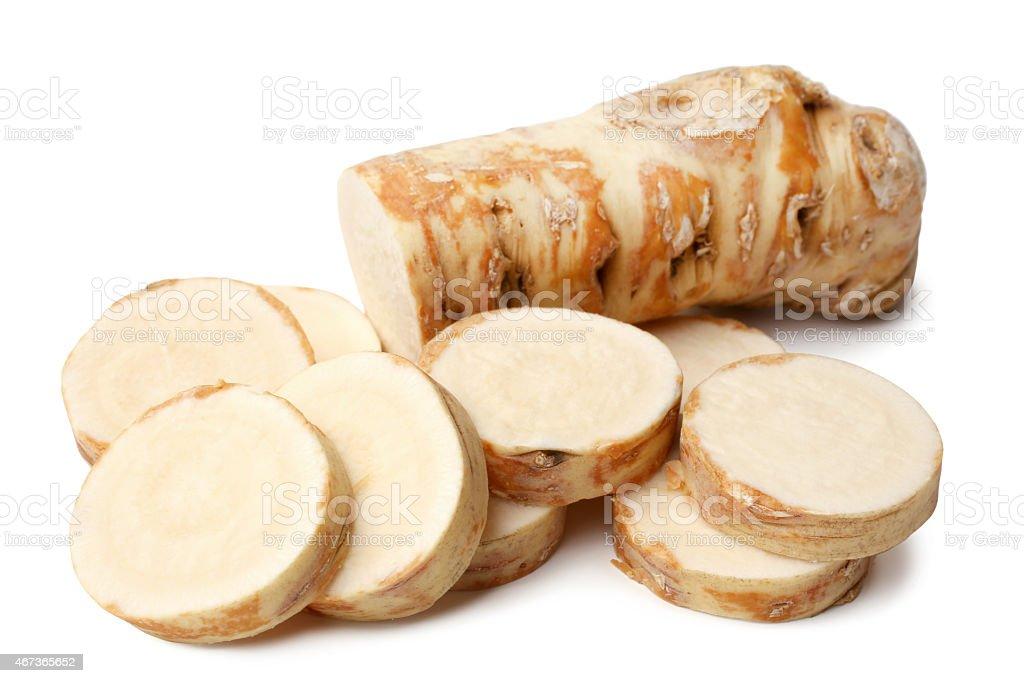 Horseradish root stock photo