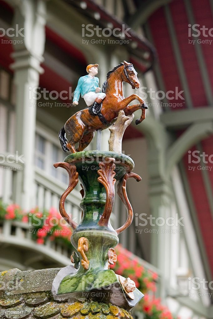 Horses at Deauville stock photo