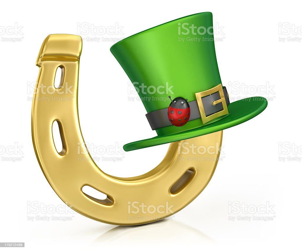 Horseshoe and Hat St Patrick's Day royalty-free stock photo