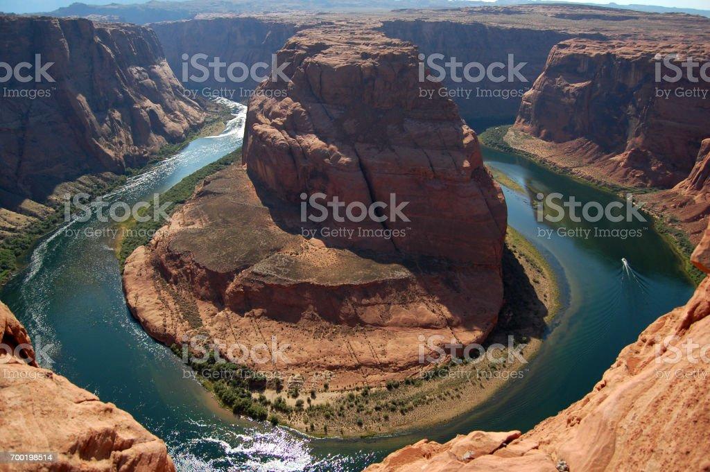 Horseshoe band Arizona on Colorado river, USA stock photo