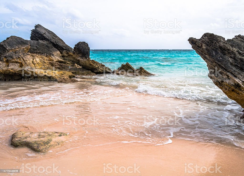 Horseshoe Bay Beach - Bermuda stock photo