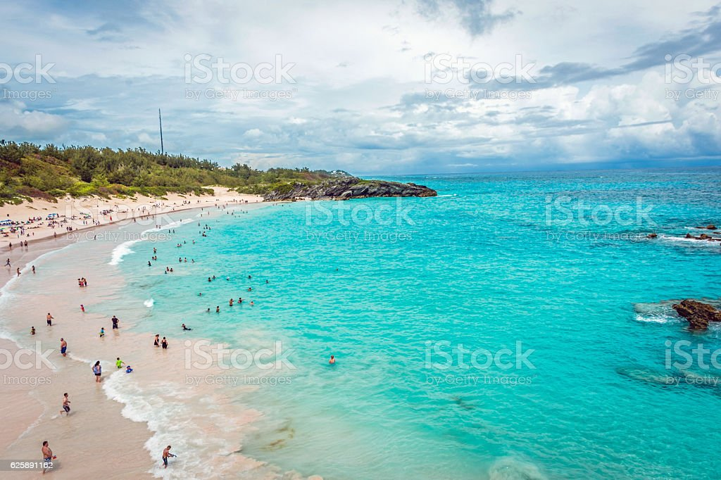 Horseshoe Bay Beach View stock photo