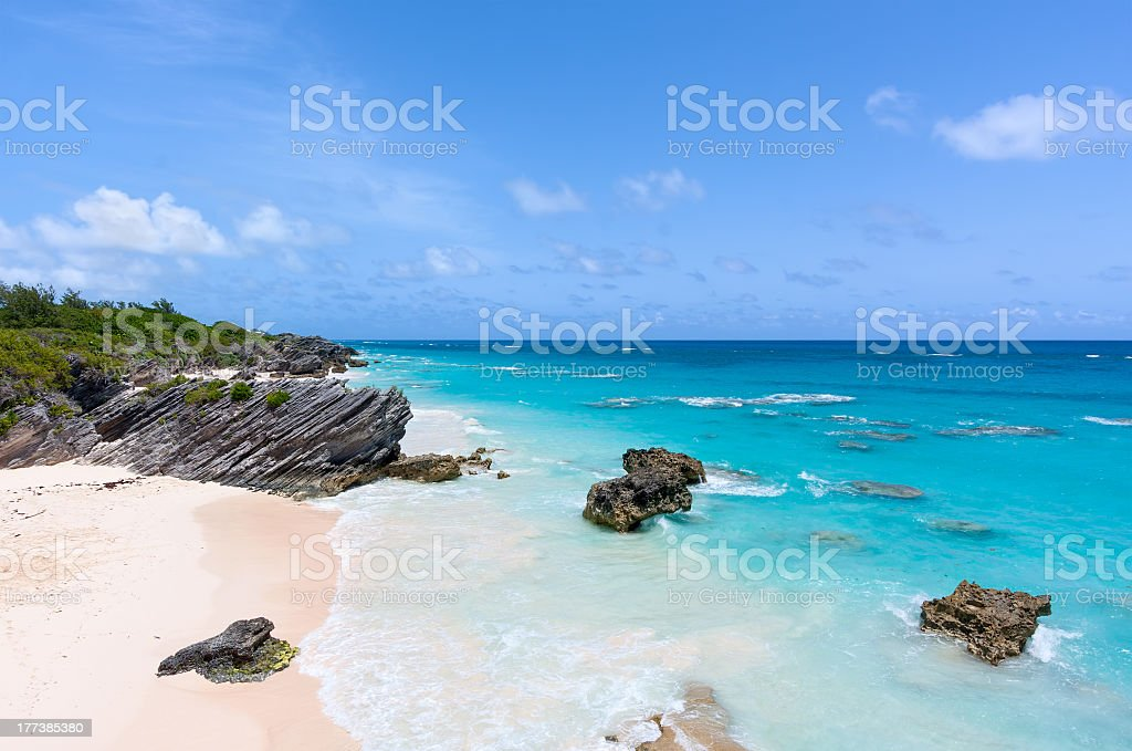 Horseshoe Bay, Bermuda stock photo