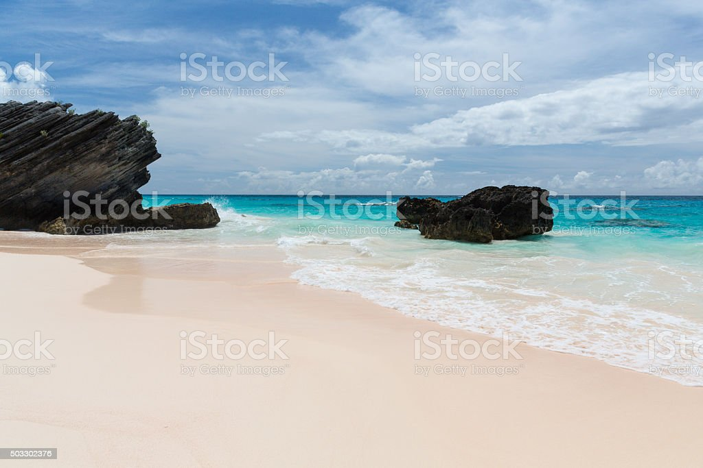 Horseshoe Bay Bermuda stock photo