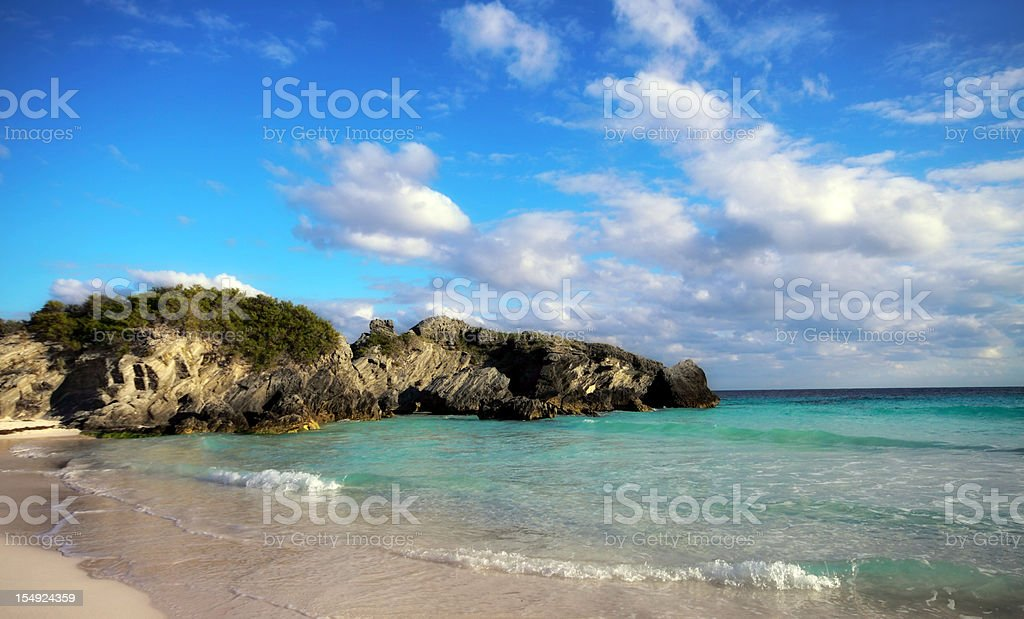Horseshoe Bay in Bermuda stock photo