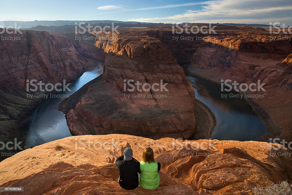 Horseshoe Bend afternoon on the Colorado River. stock photo