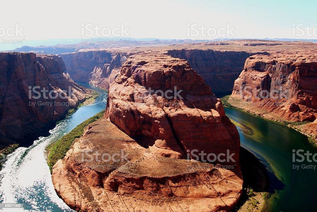 Horseshoe Bend, Colorado River, USA stock photo