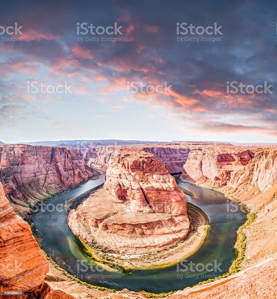 Horseshoe Bend In Page Arizona stock photo