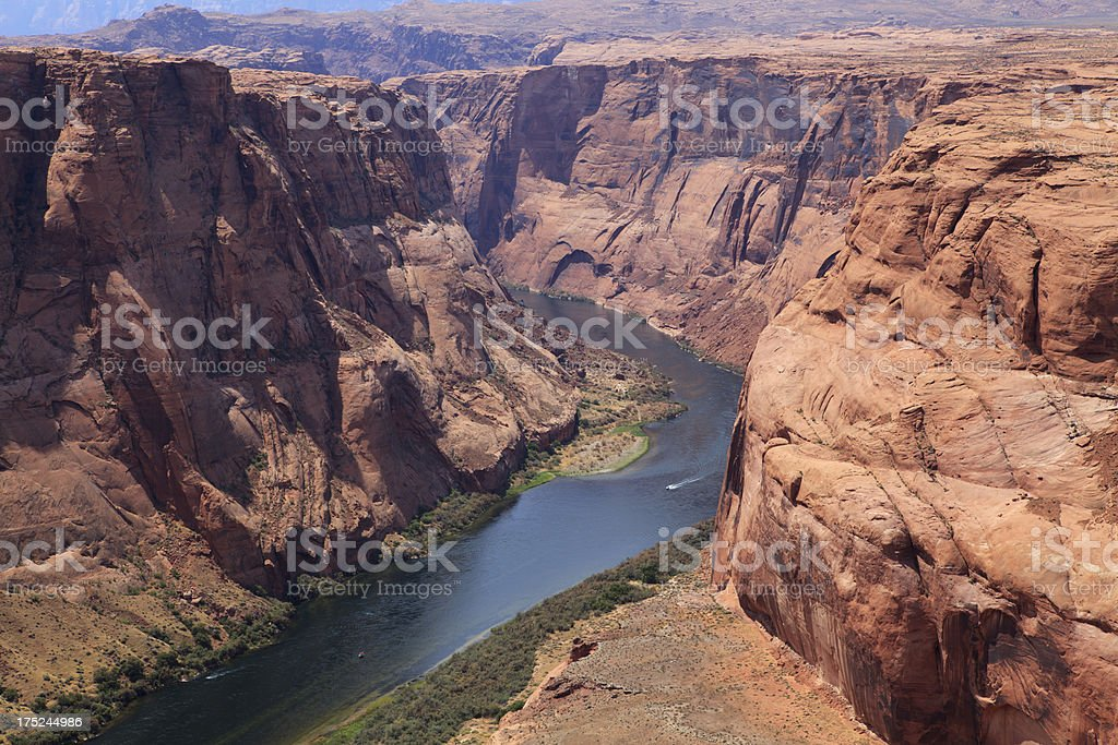 Horseshoe bend of Colorado river royalty-free stock photo