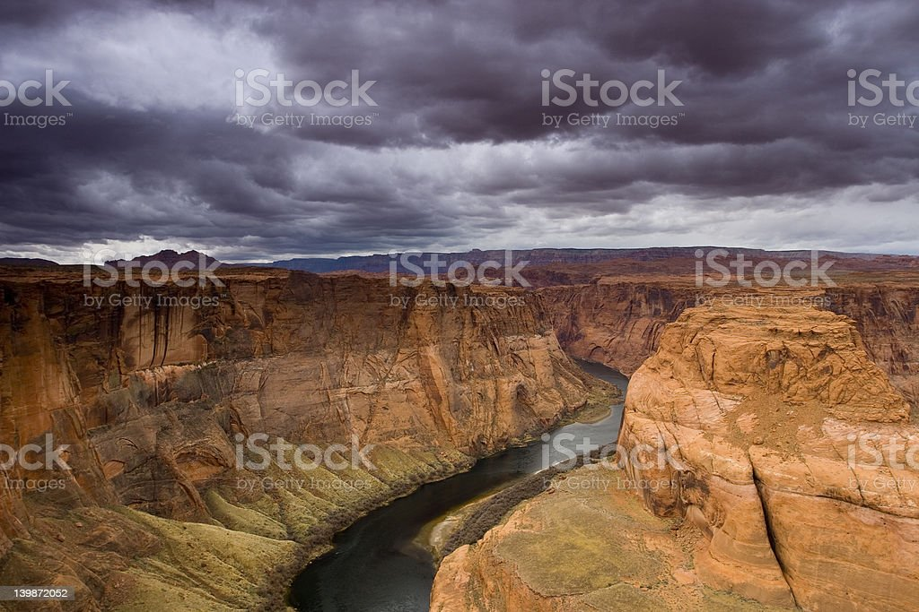 Horseshoe bend on the Colorado River royalty-free stock photo