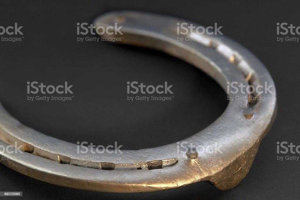 horseshoe closeup royalty-free stock photo