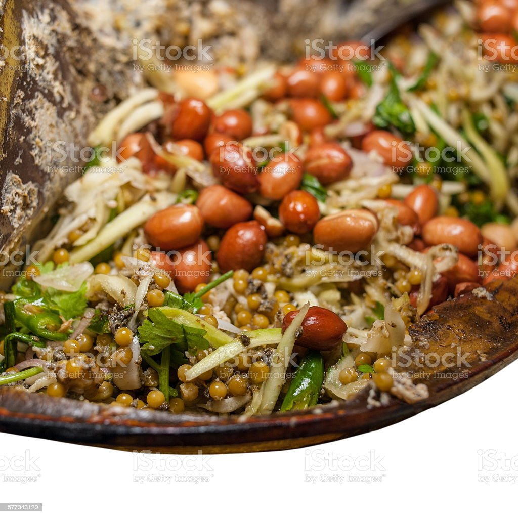 horseshoe crab salad stock photo