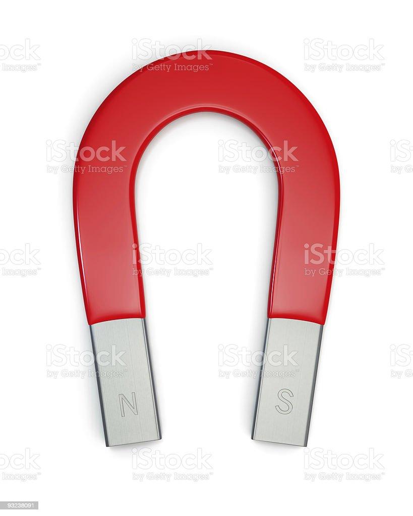 Horseshoe magnet isolated on white stock photo