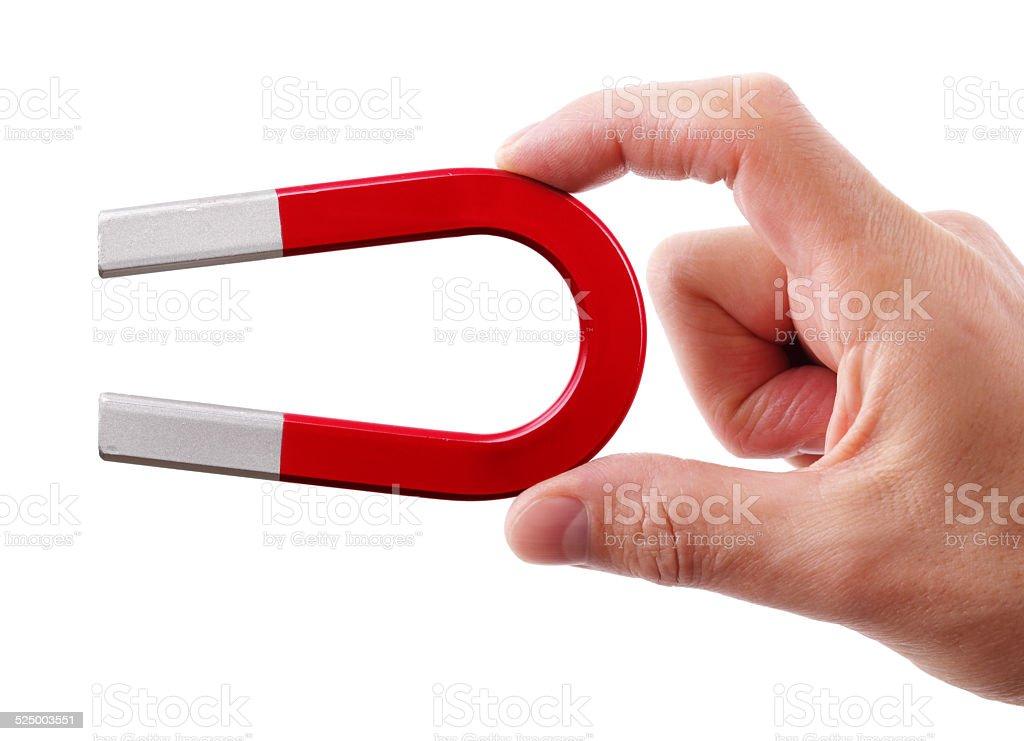 Horseshoe magnet stock photo
