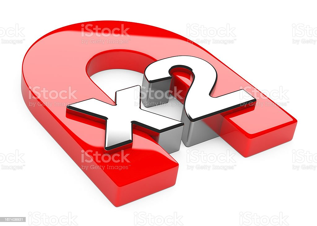 """Horseshoe magnet with """"x2"""" sign royalty-free stock photo"""